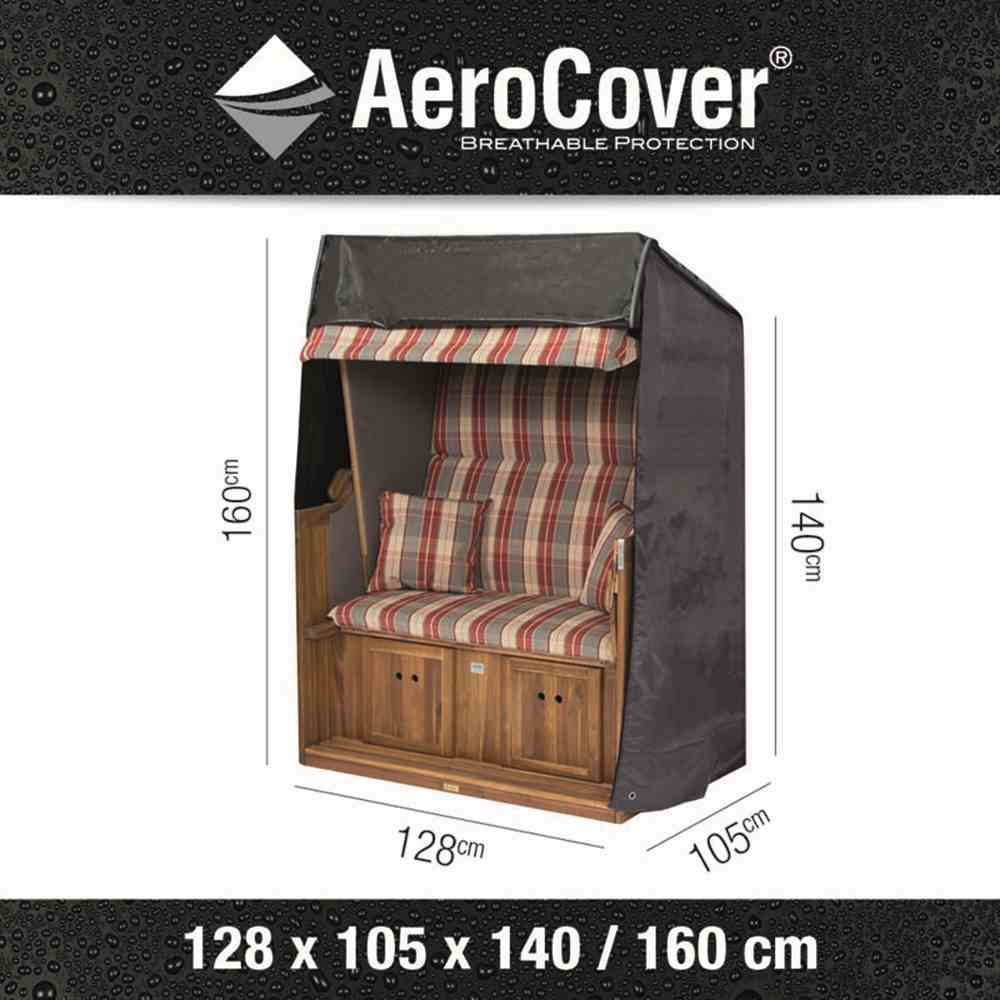 aerocover schutzh lle strandkorb 128x105x160 140cm 7820 schutzh llen strandk rbe. Black Bedroom Furniture Sets. Home Design Ideas