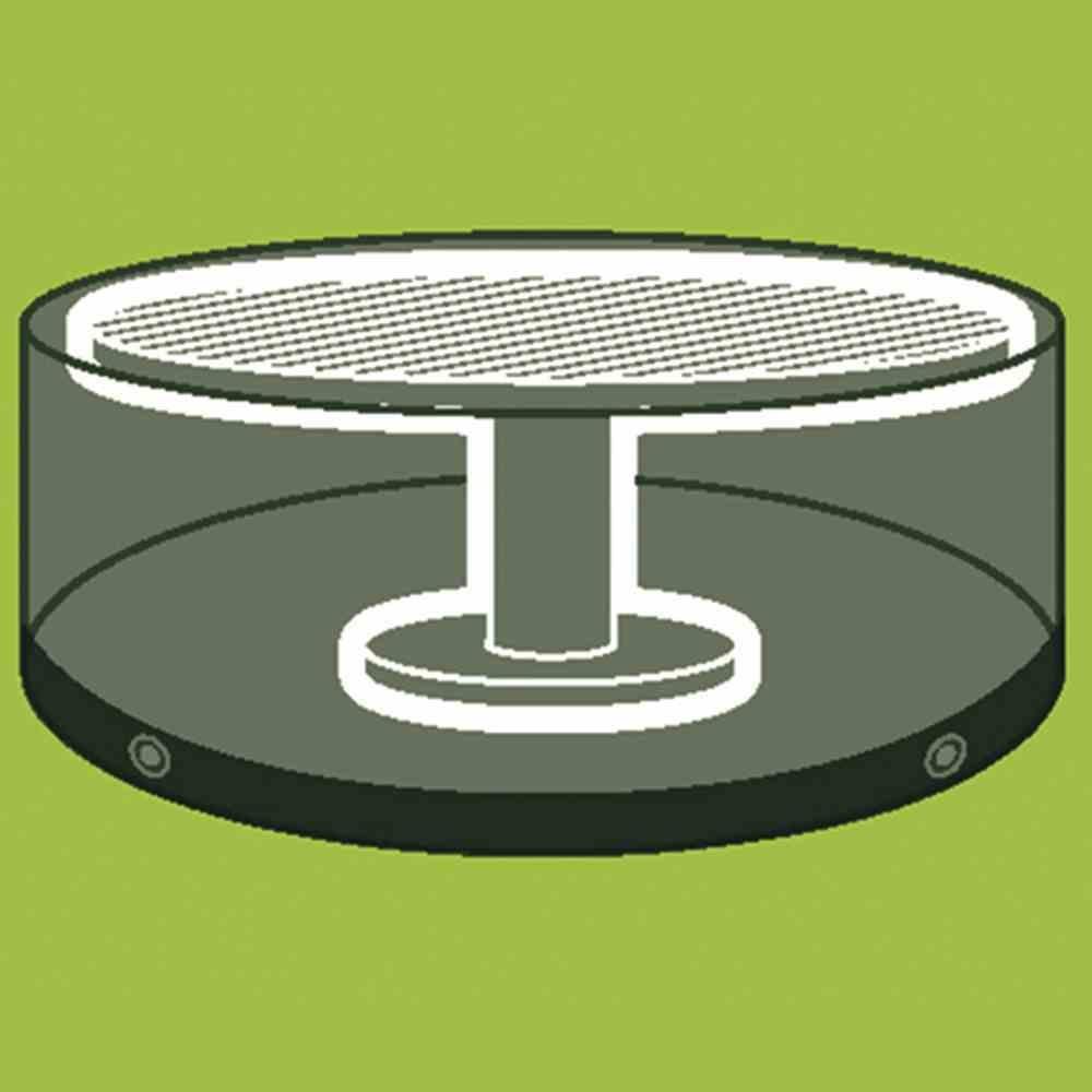 tisch abdeckhaube 124cm rund grau 405543 schutzh llen. Black Bedroom Furniture Sets. Home Design Ideas