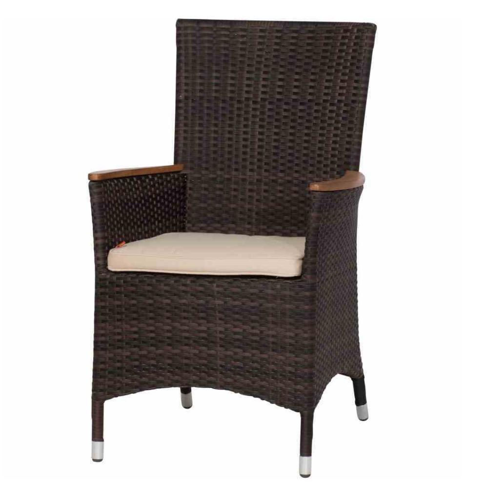sessel luzern ii maron armlehnen aus teakholz fsc 100. Black Bedroom Furniture Sets. Home Design Ideas