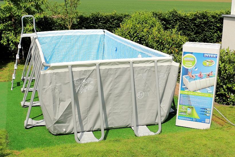 Intex ultra frame pool aufbau in wenigen schritten - Pool mit stahlrahmen ...