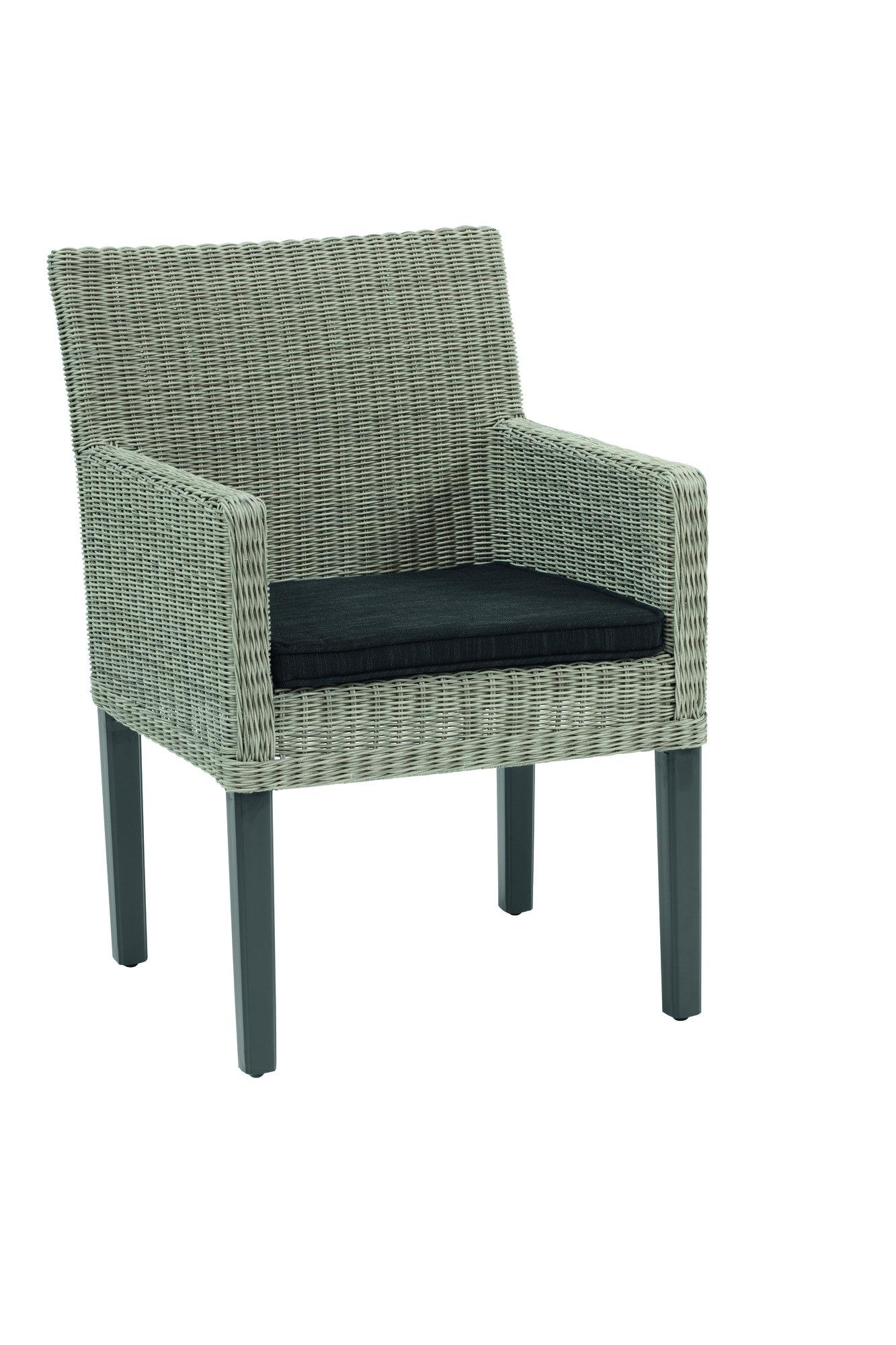kettler bretagne geflechtsessel grau white wash 0102707. Black Bedroom Furniture Sets. Home Design Ideas