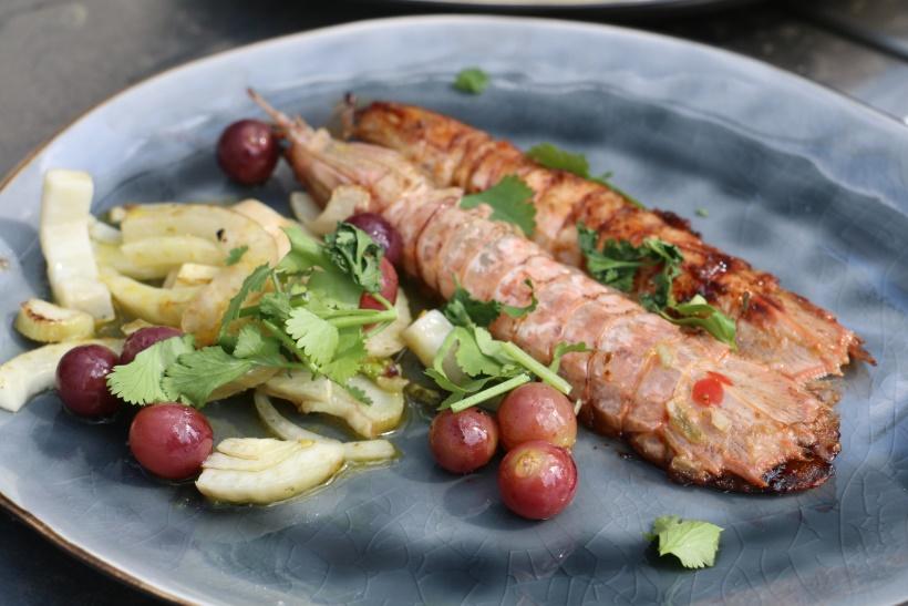 Rezept-Heuschreckenkrebs-Grill-Salat-lecker