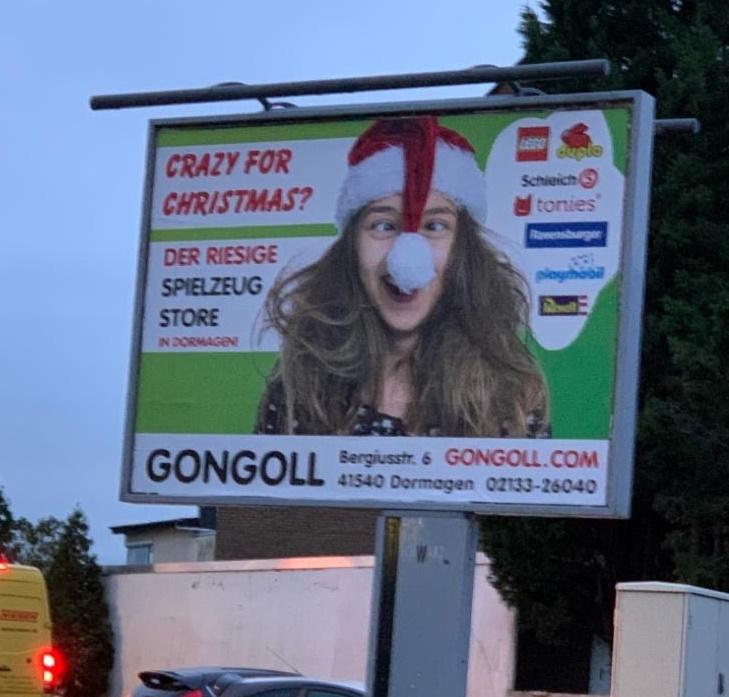 Crazy-for-Christmas-Gongoll-Plakat-Werbung-Weihnachten