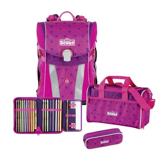 905128fe50c7f Scout Schulranzen-Set Sunny Pink Flowers 93000