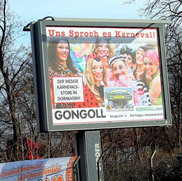 Gongoll-Plakat-Uns-Sproch-Es-Karneval-Dormagen-Neuss