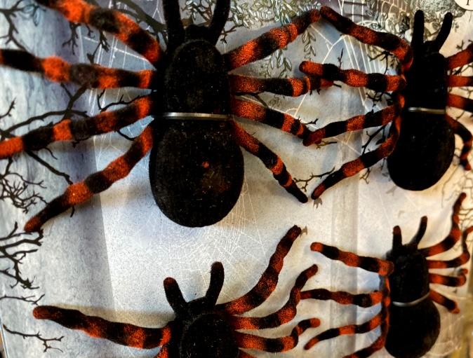 Halloween-Dekorationen-Spinnen-Spinnweben