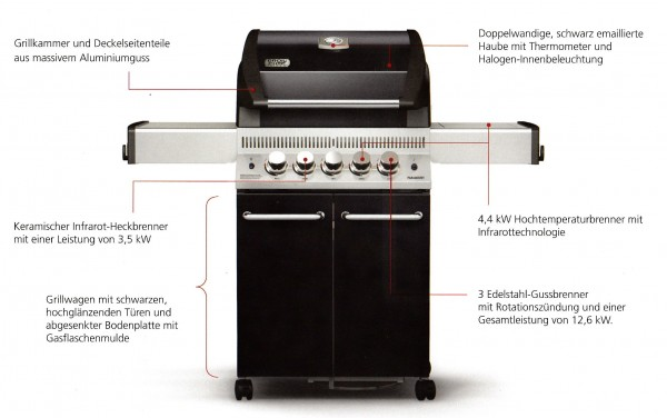 Broil Chef Paramount BC-430BBS - AUSSTELLUNGSGRILL
