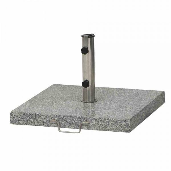 Granitständer 45kg grau eckig mit Griff und Rolle
